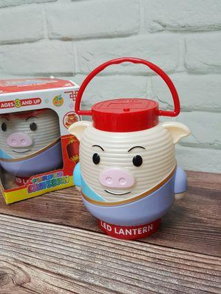 [全新]兩個合售價 卡通Led七彩音樂投影燈 -小豬