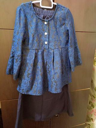 🚚 Kids baju kurung (Navy Blue)