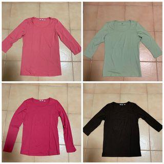 4 for $16 - Authentic Uniqlo ladies longsleeve top size L