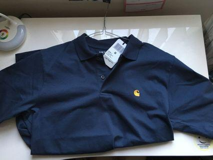 BRAND NEW W TAGS Carhartt Polo shirt Teal/yellow