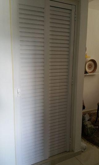 Slide&Swing Aluminium Louver Door