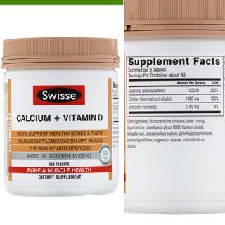 [ 預購 ] Swisse, Ultiboost, Calcium + Vitamin D 鈣+維他命D ( 250粒 )