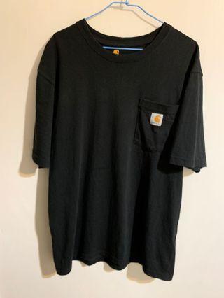 🚚 二手 Carhartt Logo POCKET TEE 口袋 K87 素T 短袖T 黑色 SIZE:M