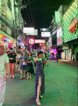 🚚 度假風藍色高衩長洋裝