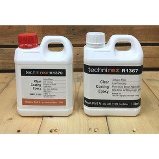 Technirez Clear Coating Resin Art 2 litre set