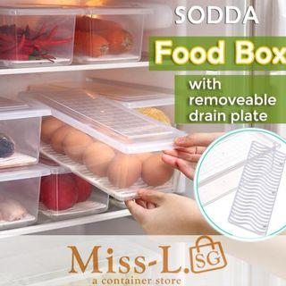 🏅 🏅 SODDA FOOD BOX WITH REMOVEABLE DRAIN PLATE