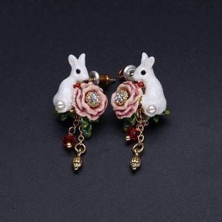 Les Nereides Rabbit Earrings
