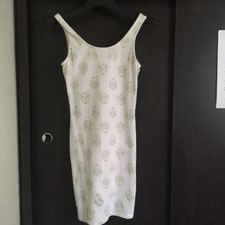 Skull bodycon dress