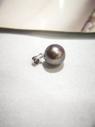 🚚 18k white gold fresh-water Pearl pendant