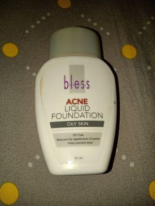 Bless liquid foundation For Acne skin