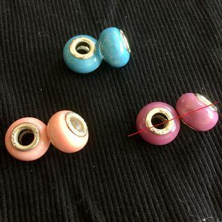 CLEARANCE $2 FOR 1 PAIR MAILED ONLY - BRACELET CHARM BEADS