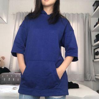 H&M BLUE OVERSIZED HOODIE