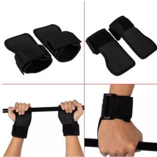 2pcs Black Anti Skid Weightlifting Wristbands