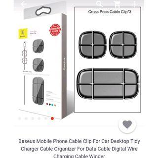 Baseus Magnetic TPU Cable Clip/ Organizer Cable Winder