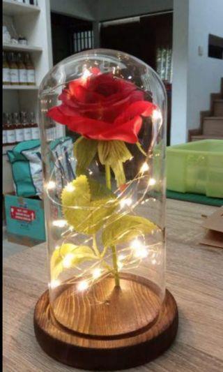 lampu led dgn ornamen bunga mawar 🌹