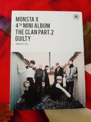 Monsta x 4th mini album the clan pt 2 guilty (innocent ver)