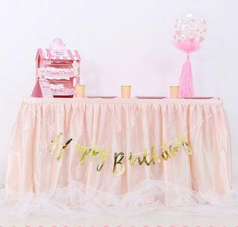 Tulle Table Skirting Party Birthday Dessert Table Decoration
