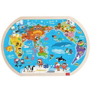 Wooden learning world map puzzle [271]
