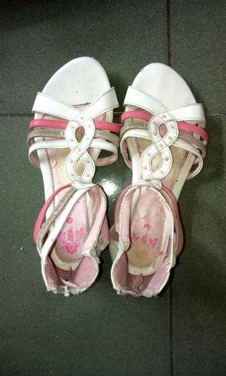 Sepatu sendal resleting belakang✨