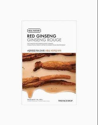 The face shop real nature sheet mask red ginseng original korea