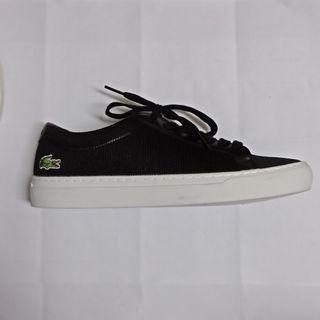 Lacoste 25cm基本款黑帆布鞋