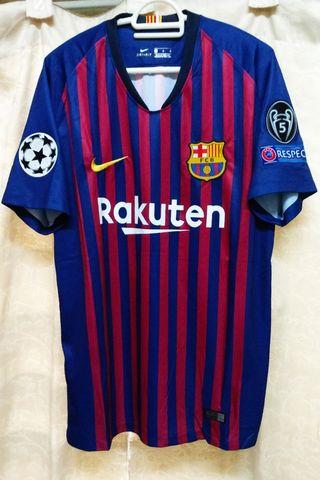 Fully Patched Barcelona FC 2018/19' Home Short Sleeve Jersey