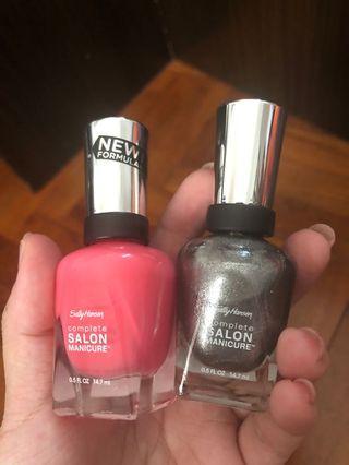 Sally Hansen Nail Polish complete salon manicure in 520 & 740