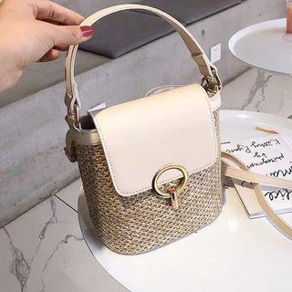 Rattan Handbag with Trap