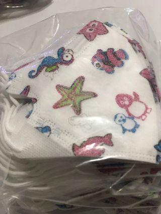 🚚 (海洋世界)兒童立體口罩