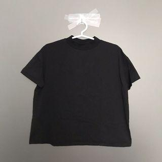 Zara High Neck Tshirt in Black