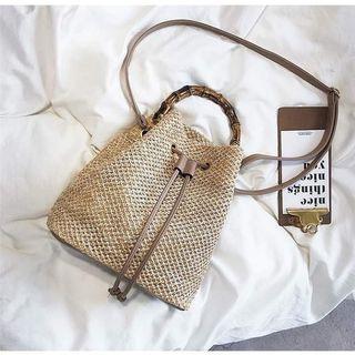 Straw Bucket Handbag