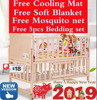 Baby Cot/bed/playpen/table/sofa/2019 new stock