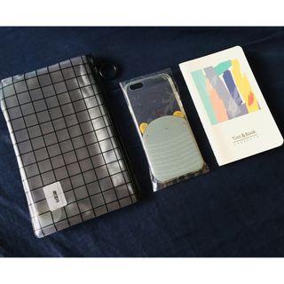 iPhone6 手機殼套組 4.7吋 萌怪 附夾鏈袋筆記本
