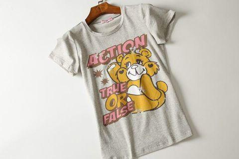 🚚 泰國購入💕雙面彩虹熊彈性純棉T恤