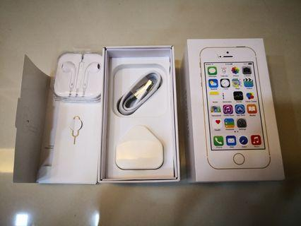 (NEW)IPHONE 5S BOX & ALL ACCESSORIES INCLUDED