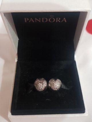 Pandora Micley & Minnie Disney Clip Silver Charms