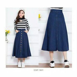 Denim long skirt (rok panjang denim) #mauvivo