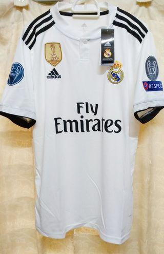 Fully Patched Real Madrid FC 2018/19' Home S/Sleeve Jersey
