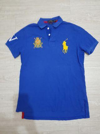 Polo Ralph Lauren寶藍色大馬 Polo衫-M號