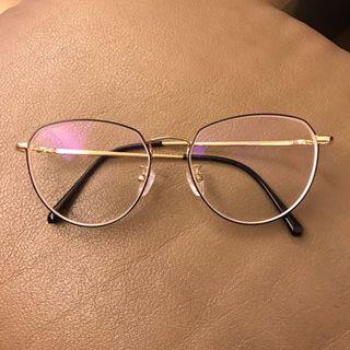 特殊防油鼻墊 金色鏡腳 大框眼鏡 黑框眼鏡 可自行拆鏡片