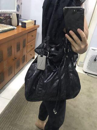 Armani Exchange Metallic bucket handbag