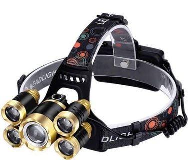 🚚 New 5頭強光頭燈