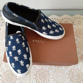 Sepatu COACH Slip on denim print sneaker