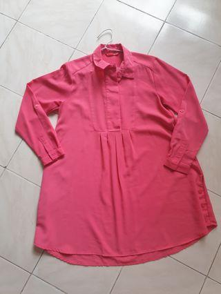 Dauky Top in Bright Pink