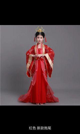 Girls Hanfu Dresses - A, B, C Size 110cm, 120cm, 130cm, 140cm, 150cm, 160cm