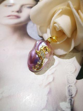 🚚 S925 silver Phoenix Baroque pearl Pendant