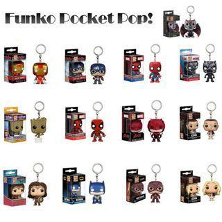PO | Funko Pocket Pop Vinyl Marvel DC Superheroes Keychain Figuring