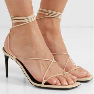 SAINT LAURENT Paris Minimalist leather sandals (NP)