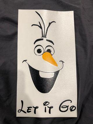 Let It Go Toilet Seat Sticker