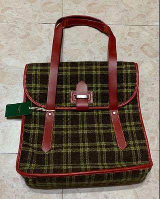 🚚 全新正品 未使用 paul smith 羊毛料*牛皮 手提肩背包 日版 購於日本 日本製